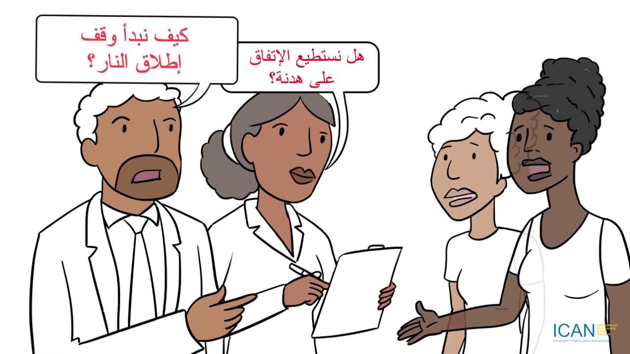 Gender Responsive Ceasefires – Arabic